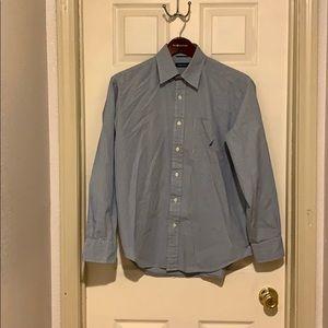 Men's Nautica Size Medium Blue Plaid Shirt